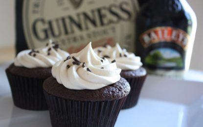 Cupcakes Baked With Bailey's Irish Cream