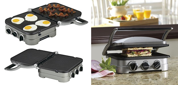 Best designed for cooks who wish to use sandwich maker as an indoor grill too, the Cuisinart GR-4N 5-in-1 Griddler is an excellent value.