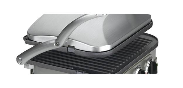 Panini press floating hinge