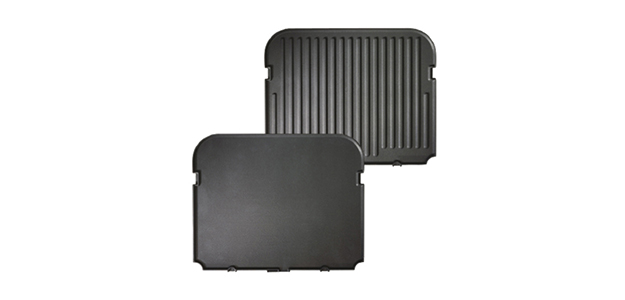 Panini press grill plates ridged and smooth